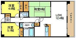 コンフォールアビタシオン[8階]の間取り