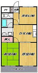 ガーデンシティ宮崎台[302号室号室]の間取り