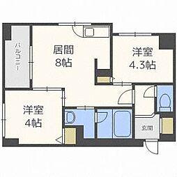 クラッセ円山WEST[2階]の間取り