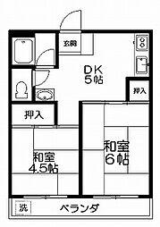 コスモス荻窪[102号室]の間取り