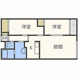 北海道札幌市東区北三十五条東20丁目の賃貸マンションの間取り