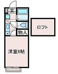 Lapis AP 鶴川(ラピスエーピーツルカワ)[1階]の間取り