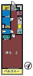 リブリ・船橋宮本[102号室]の間取り