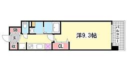 アルファレガロ神戸WEST[707号室]の間取り