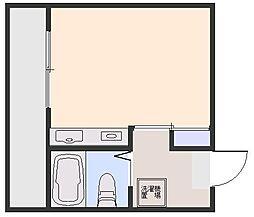 ドミール本庄[302号室]の間取り