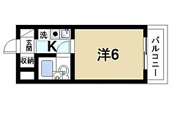 奈良県奈良市富雄北1丁目の賃貸マンションの間取り