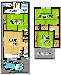 [一戸建] 奈良県奈良市南紀寺町5丁目 の賃貸【/】の間取り