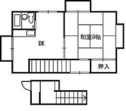 鷲田アパート[1号室]の間取り