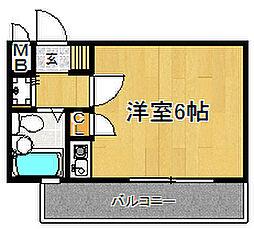 ダイナコート大博通り[604号室]の間取り