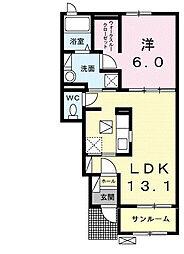 ノイエツァイト VA[1階]の間取り