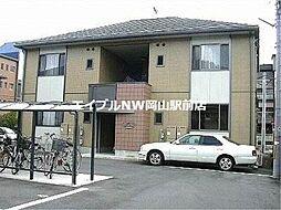 岡山県岡山市北区津島京町3丁目の賃貸アパートの外観
