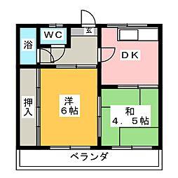 第一富士荘[1階]の間取り