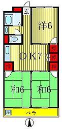 第二スカイハイツ[506号室]の間取り