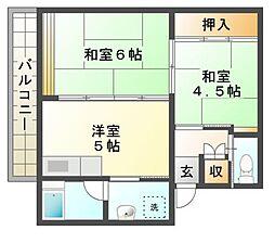 ビレッジハウス五個荘[4階]の間取り