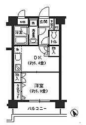神奈川県横浜市西区浅間町4丁目の賃貸マンションの間取り