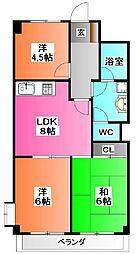 東京都北区浮間3の賃貸マンションの間取り