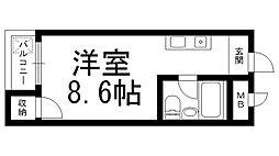 ロータリーM西三荘[0406号室]の間取り