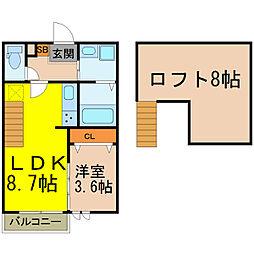 Ampio ATSUTA[2階]の間取り