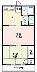 コーポ小野[1階]の間取り