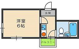エムロード駒川[4階]の間取り