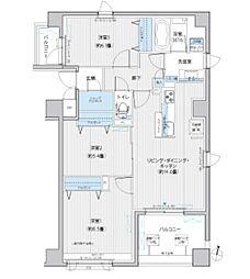 JR中央線 飯田橋駅 徒歩7分の賃貸マンション 2階3LDKの間取り
