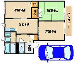 リンディー西神戸[1階]の間取り