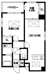 Quatre saisons(キャトルセゾン)新大阪[3階]の間取り