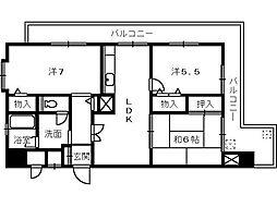 サンポートハイム堺PART1[5階]の間取り