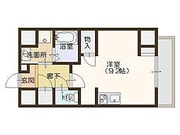 エスパシオ・コモド大阪新町[5階]の間取り
