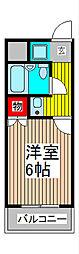 インプレストキワ[3階]の間取り