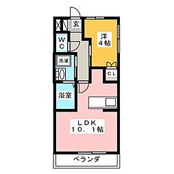 maison de chou-chou[1階]の間取り