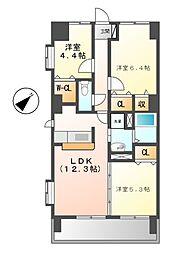 ソレイユ11[6階]の間取り