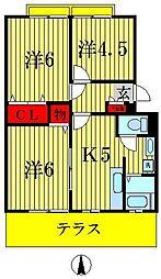 パレドール新松戸[1階]の間取り