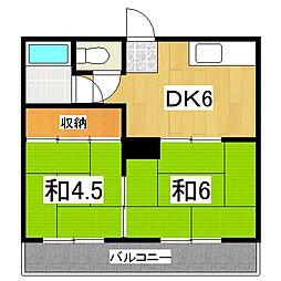 京都府京都市伏見区東堺町の賃貸アパートの間取り