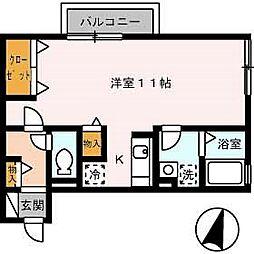 リベルテ A棟[2階]の間取り