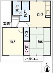 サウスガーデンBBIIB棟[2階]の間取り