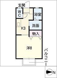 サニーコート D棟[2階]の間取り