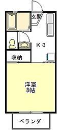 メゾン・ド・KIRAKU[2階]の間取り