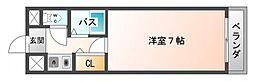 シャトレ豊津I[4階]の間取り