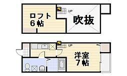マクト上新井[203号室]の間取り