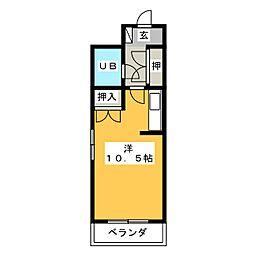 リヴェールいずみ[3階]の間取り