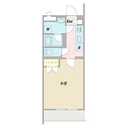 (仮称)ヴェルデ中野哲学堂 3階1Kの間取り