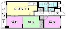 安城寺マンション[606 号室号室]の間取り