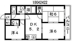 セレネ37[4階]の間取り