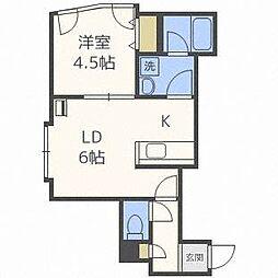 北海道札幌市東区北三十二条東17丁目の賃貸アパートの間取り