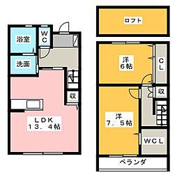 [テラスハウス] 静岡県浜松市北区細江町中川 の賃貸【/】の間取り