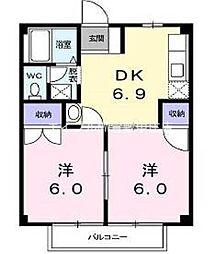 スカイハイツI[2階]の間取り