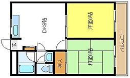 レジデンス長居[2階]の間取り