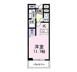 ヴィクトワ−ル[3階]の間取り