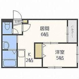 メゾンクー・ドゥ・クールIV[3階]の間取り